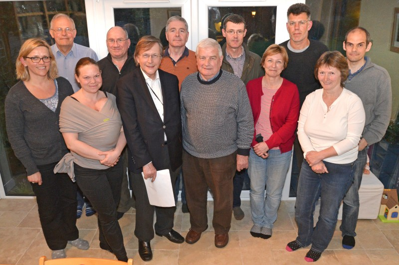 Campaign members and residents meet Councillor Stevenson